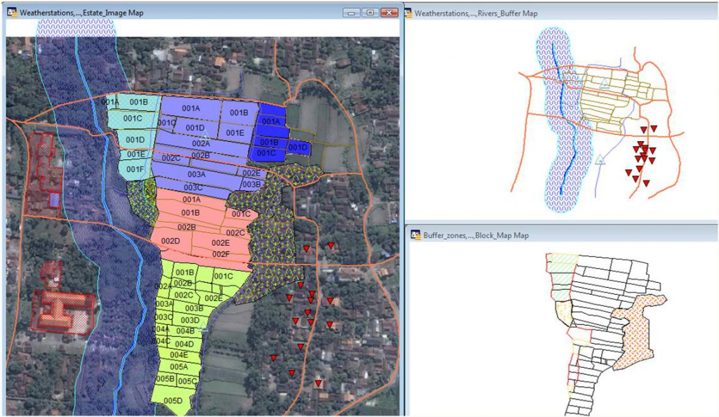OMP-GIS map with layers